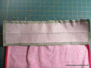 waistband to towel